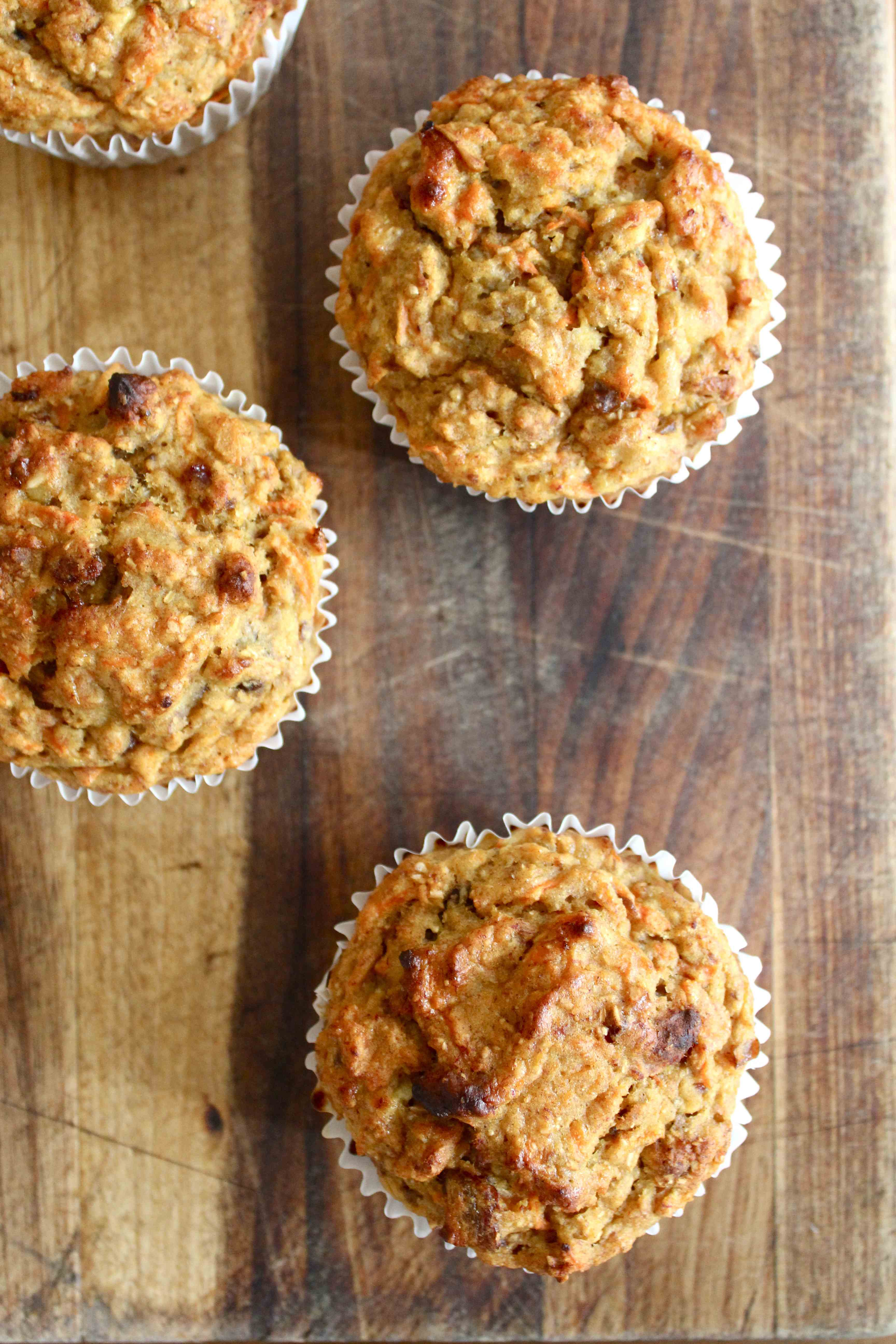 Healthy Carrot Muffins with Bush Honey Icing | Sugar and Cinnamon