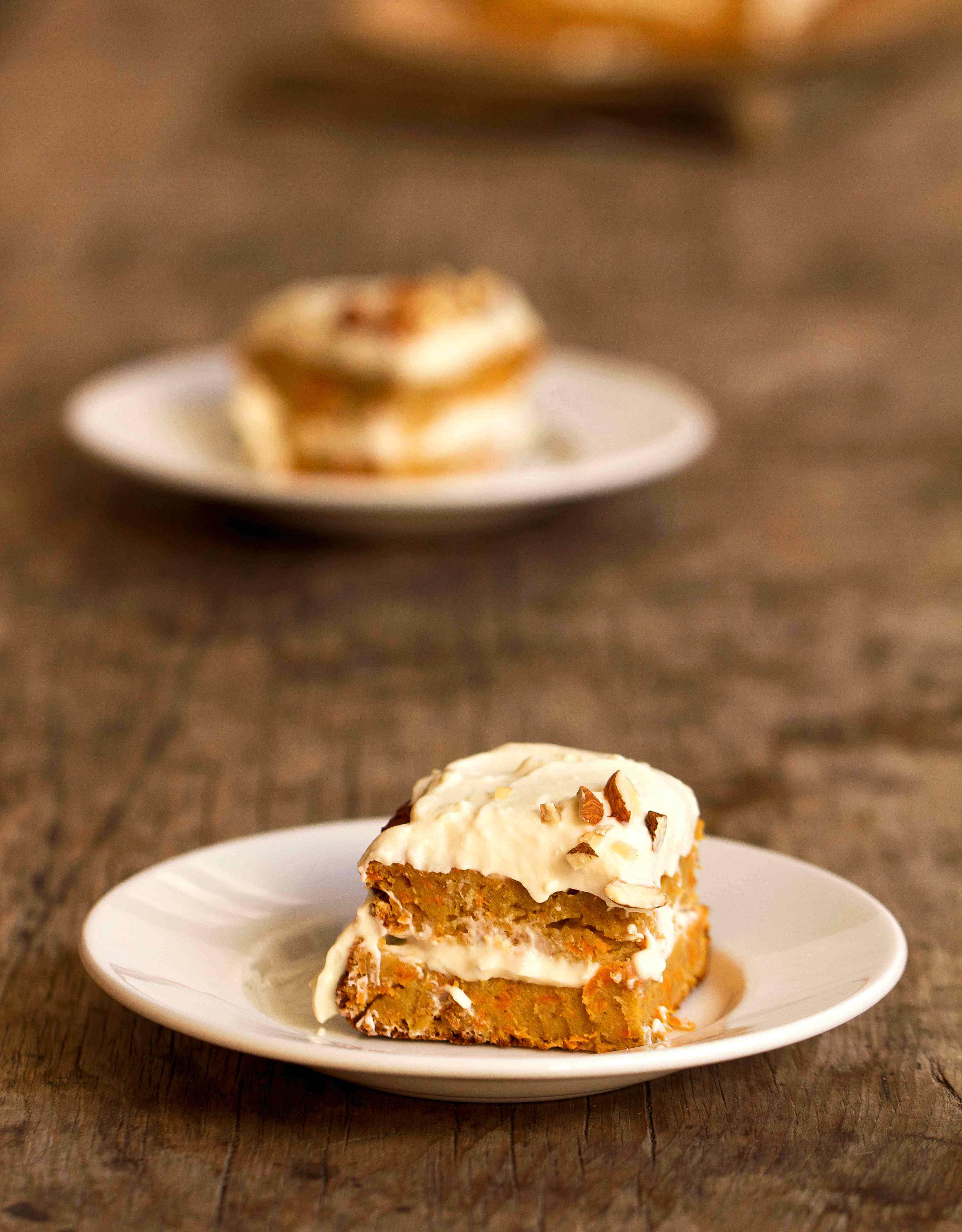 Healthier Spiced Carrot Cake with Maple Orange Icing | Sugar and ...